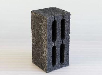 Шлакоблок 4-х пустотный М 75 (черный)