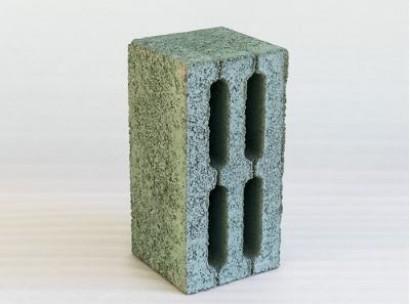 Шлакоблок 4-х пустотный М 75 (зеленый)
