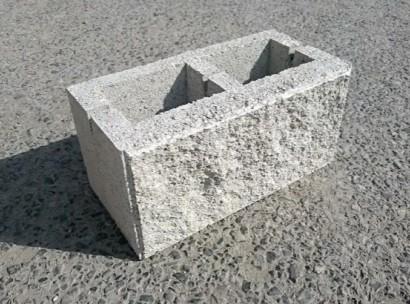 Камень колотый облицовочный 2х пустотный серый