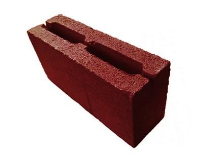 Полублок 2-х пустотный М 100 (красный, коричневый, оливковый)